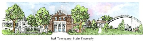 East Tennessee State University - Collegiate Sculptured Ornament by Sculptured Watercolor Ornaments