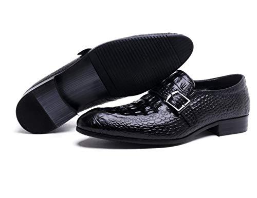 Cuatro Negro Black Estaciones Deportivo Conducción Suave Raíz De Cuadrada Marrón Sin Calzado Cierre Cuero Transpirable HgwICCxqZ