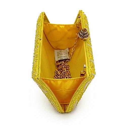 Bolsas Bolso Noche Flada Boda Graduación Mujeres Amarillo Para Y Bolsa De Fiesta Verde Señoras Hombro Embrague Rhinestones tXzwHwxqC