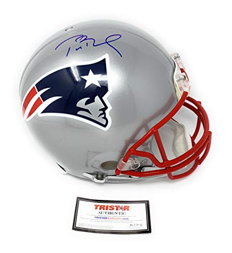 Tom Brady New England Patirots Signed Autograph Full Size Proline Authentic Helmet Game Model Decals Tristar Authentic Certified from Mister Mancave
