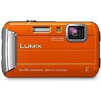 Panasonic Waterproof, Shockproof, Freezeproof, Dustproof Lumix FT30 Tough Underwater Digital Point and Shoot Camera, Orange (DMC-FT30GN-D)