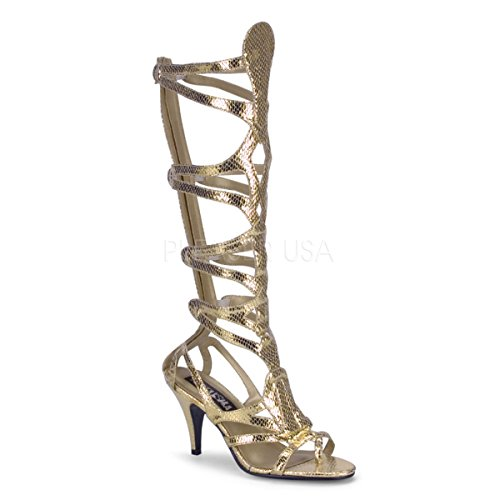 Funtasma by Pleaser Women's Halloween Goddess-12 Sandal,Gold Snake Skin,8 M for $<!--$55.76-->