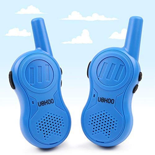 Walkie Talkies for Kids, 3 Channels Two Way Radio 2 Miles Range Handheld Mini Walkie Talkies, Toys for 4 5 6 7 8 9 10 Year Old Boys and Girls (New Blue)
