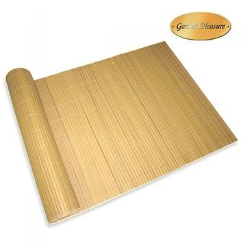 Para 90 x 1000 cm para protección contra el viento PVC bambú balcón jardín cortaviento orificio: Amazon.es: Hogar