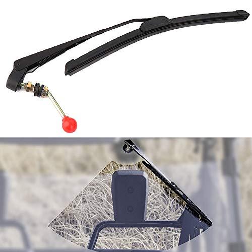 KEMIMOTO UTV Hand Operated Windshield Wiper Manual Wiper for Hard Coated Or Glass Windshields