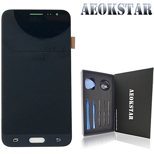 Aeokstar For Samsung Galaxy J3 (2016) J320P J320YZ J320VPP j320ZN J320F J320A ( OLED ) LCD Touch Screen Digitizer Glass Assembly Replacement & Full Repair Tools Kit (BLACK-OLED SCREEN) from AEOKSTAR