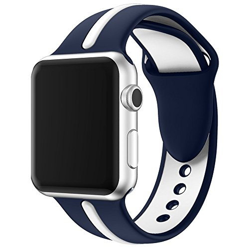 Edt Watch - Zakaco Sport Band for Apple Watch 42mm 38mm, Soft Silicone Strap Replacement iWatch Bands for Apple Watch Sport, Series 3, Series 2, Series 1