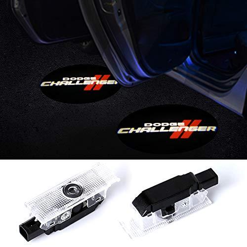 LED Car Door Logo Dodge Challenger Projector Ghost Shadow Courtesy Light Welcome Light for Dodge Challenger Scat Pack RT SRT SXT GT SE-No3
