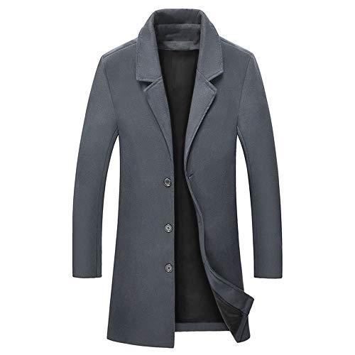 Homme Fit Hiver D'affaires Dark Shkac Trench En Manteaux Couleur Slim Gray Pour coat Moyennes Unie Pardessus Hommes Manteau Vestes Medium Longues 46xxw5E1