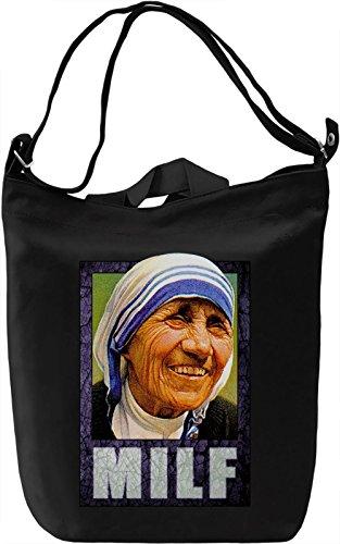Milf Borsa Giornaliera Canvas Canvas Day Bag| 100% Premium Cotton Canvas| DTG Printing|