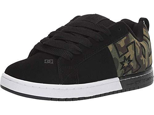 DC Men's Court Graffik SQ Skate Shoe, Black/camo, 13 M US (Shop Sq)