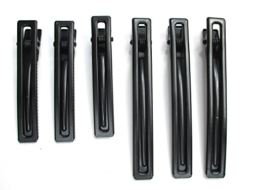 ALL in ONE DIY hair clip kit: Black Assorted Size Hollow Out Rectangle metal alligator clip 60mm, 80mm(12pcs)