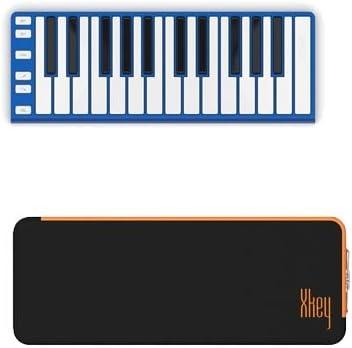 CME XKey funda para teclado musical – azul + CME XKey Mini teclado Supernova estuche