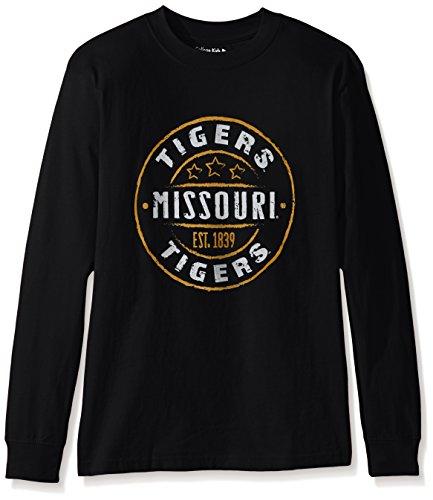 - College Kids NCAA Missouri Tigers Youth Long Sleeve Tee, Size 10-12/Medium, Black
