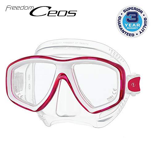 TUSA M-212 Freedom Ceos Scuba Diving Mask, Bougainvillea Pink