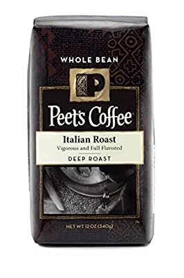 Peet's Coffee, Whole Bean, Deep Roast, Italian Roast, 12oz Bag (Pack of 2)