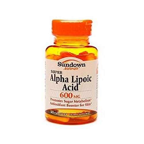 Sundown Naturals Super Alpha Lipoic Acid, 600mg, Capsules 60 ea For Sale
