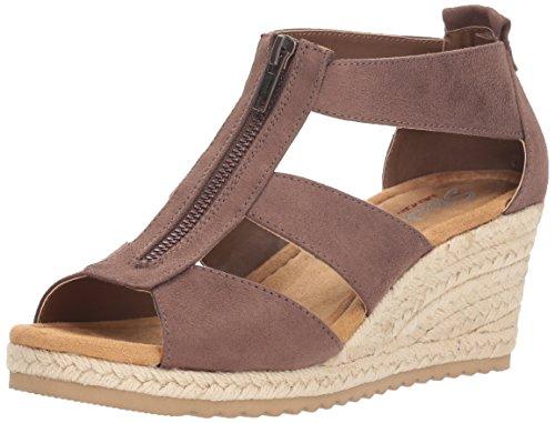 Skechers Cali Women's Monarchs Wedge Sandal,chocolate,8 M US