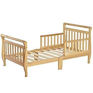 Dream On Me Classic Sleigh Toddler Bed, Natural