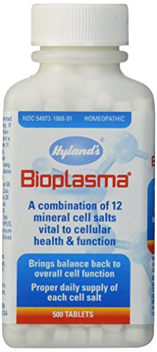 Bioplasma Cell Salts Tablets by Hyland's, Natural Homeopathic Combination of Cell Salts Vital to Cellular Function, 500 Count