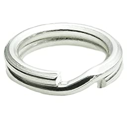 20 pcs 925 Sterling Silver 5mm Round Split Jump Ring 24 GA Gauge / 0.5mm Wire Charm Connector