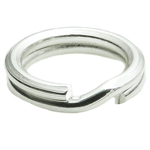 - 20 pcs 925 Sterling Silver 5mm Round Split Jump Ring 24 GA Gauge / 0.5mm Wire Charm Connector