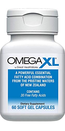 OmegaXL® 60 Count - Omega 3 Essential Fatty Acids - Ultra Effective NATURAL Pain Relief Supplement - Helps with JOINT PAIN & INFLAMMATION - No Fishy Aftertaste - with EPA/DHA from Green Lipped Mussels