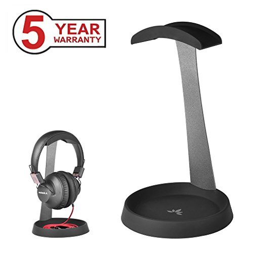 Avantree Aluminum PC Gaming Headset Headphone Stand Hanger with Cable Holder for Sennheiser, Sony, Audio-Technica, Bose, Beats, AKG, Gaming Headset Display - HS102
