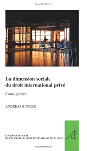 La Dimension Sociale Du Droit International Prive Cours