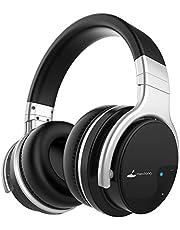 Auriculares Bluetooth, Meidong E7B Auriculares inalámbricos Ligeros con micrófono Hi-Fi Sonido Auriculares de Graves Profundos Sobre el oído, Almohadillas Protectoras para los oídos cómodos