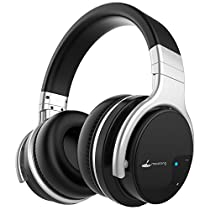 Bluetooth Headphones Meidong E7B Wireless Headphones Over Ear, Hi-Fi Stereo Wireless Headset, Soft Memory-Protein Earmuffs, Built-in Mic and Wired Mode for PC/Cell Phones/TV
