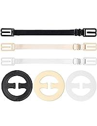 wotu 6 Pcs Bra Strap Clips Set, Elastic Non-Slip Shoulder Bra Straps Holder Clips Adjustable for Women Full Cup Size