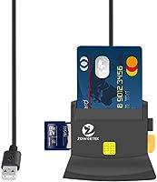 ZOWEETEK® Lector de DNI electrónico CAC Inteligente Lector de Tarjetas USB Color Negro