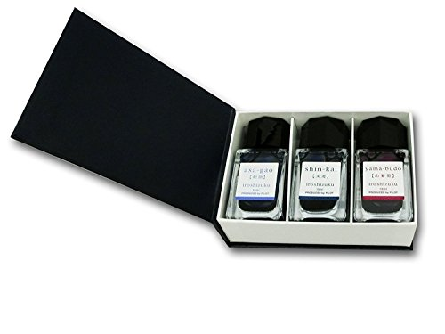 Pilot Iroshizuku Mini Fountain Pen Ink - 15 ml Bottle 3 Colors Set - AS/SNK/YB (Japan Import)