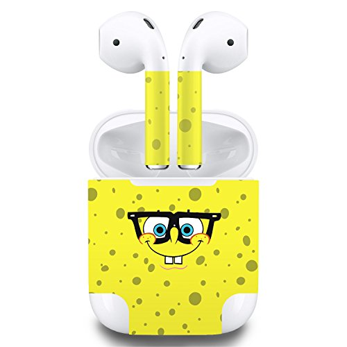 Price comparison product image Premium Vinyl Skin Sticker for Apple Airpods (Cartoon Yellow)