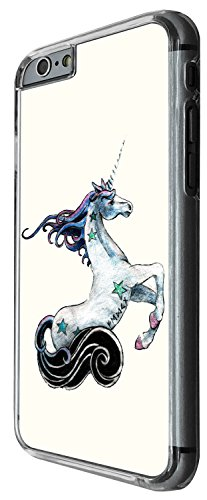 1447 - Cool Fun Trendy cute unicorn whimsical fantasy horse magical Design iphone 6 6S 4.7'' Coque Fashion Trend Case Coque Protection Cover plastique et métal - Clear