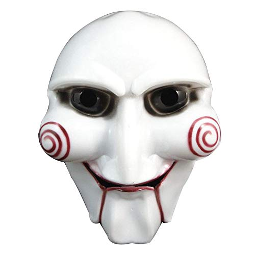 Party Masks - 1 Pcs White Halloween Party Cosplay Horror Movie Puppet Mask Costume Prop Mascara Disfraz - Movie Size Chinese Actual Aged Printed Looks Real Cash Bands Bundle Ones 10000 Dr ()