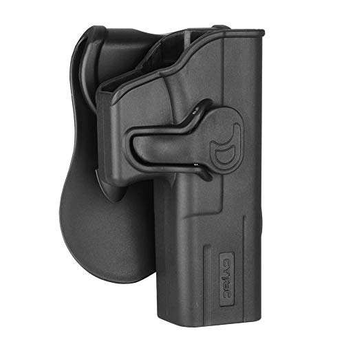 - Glock 17 Holster OWB, Outside The Waistband Concealed Carry Paddle Holster Fit Glock 17 22 31 Gen 1 2 3 4 5, Tactical Polymer Pistol Gun Holster with 360° Adjustable-RH