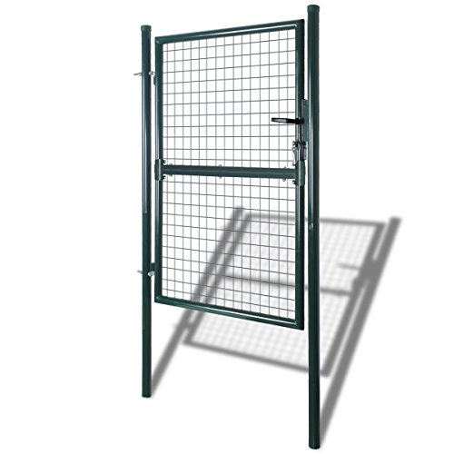 Fencing Walk Thru 39''W x 79''H, Garden Entry Gate Door Fence Galvanized Steel by HomeSweet