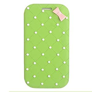 Elegant Bowknot Leather Case for Samsung Galaxy S3 I9300(Assorted Color) --- COLOR:White