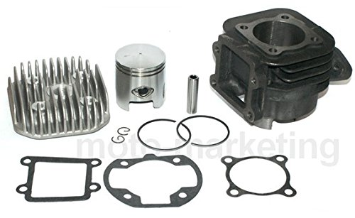 Unbranded 70cc Modifica D.47 Cilindro Gruppo Termico Testa Kit per MBK Booster Road NG 50