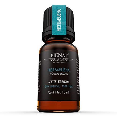 BIENAT AROMATERAPIA Aceite Esencial de Hierbabuena 10mL