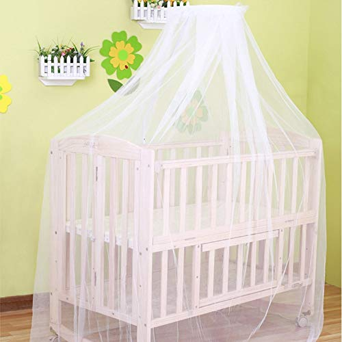 Mosquito Net - 2019 Baby Hung Home White Crib Bed Curtain Portable Crib Tent for Baby Bed Curtains for Baby (Best Cot Bed 2019)