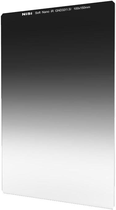 NiSi 100X150mm IR Revestimiento Vidrio óptico Filtro Nano Multi Capa IR Graduado de Densidad Neutra 1,5 Soft Filtro de Borde (5-Stops)