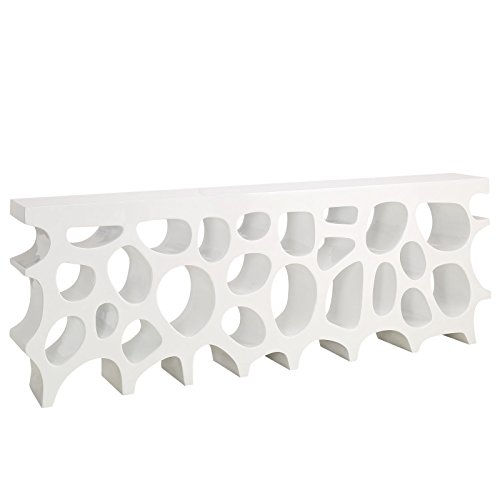 Modway Wander Large Stand In White - Modern Console Table For Entryway - Magazine Or Book Stand Display