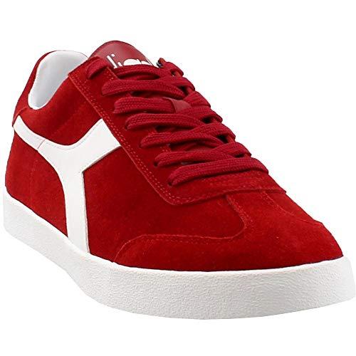 Diadora Mens Pitch Casual Sneakers, Red, 11.5 (Suede Diadora)