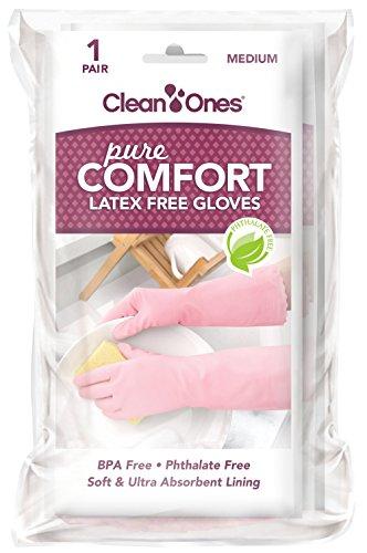 Clean Ones Pure Comfort Latex Free Vinyl Gloves - 2pr (Medium