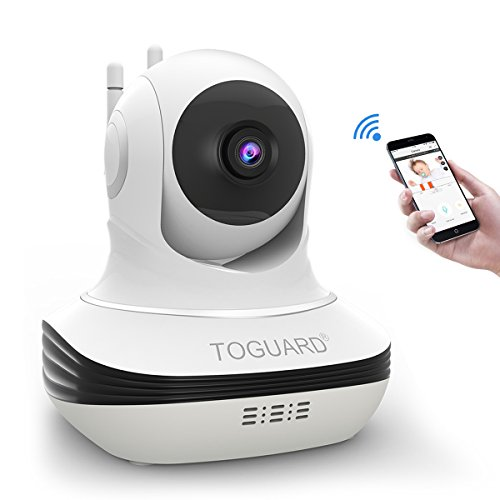 Wireless Security Camera, Toguard WiFi IP Camera with Two-way Audio, Night Vision, 720P Camera for Pet Baby Monitor, Remote Monitor with iOS, Android App - Cloud Service Available