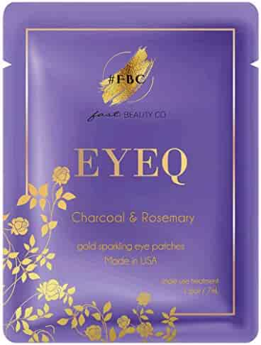 Fast Beauty Co. EyeQ Gold Under Eye Patches With Charcoal & Rosemary, 1 Pair