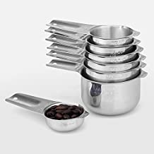 1Easylife 18/8 Stainless Steel Measuring Cups, Set of 7 (Including Perfect 1/8 Cup Coffee Scoop)